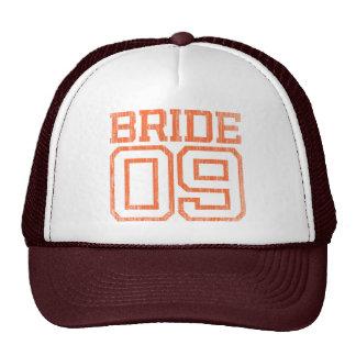 Orange Distressed Bride 09 Baseball Cap Hats