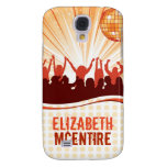 Orange DJ Spin Party Personalized iPhone 3 Case