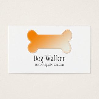 Orange Dog Bone Business Card Design 2