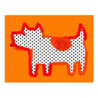 'orange dog' digital painting Postcard