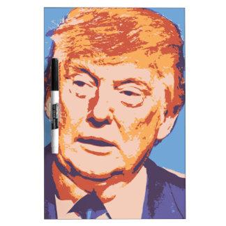 orange donald trump dry erase board