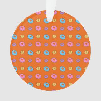 Orange donut pattern