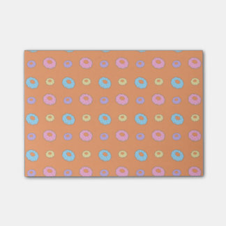 Orange donut pattern post-it® notes