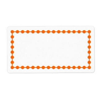 Orange Dot Frame Border Label