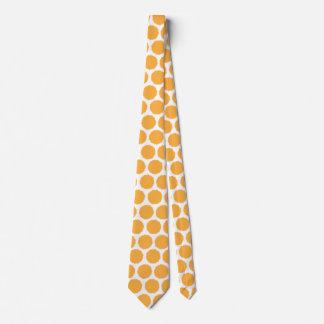 Orange Dot Tie