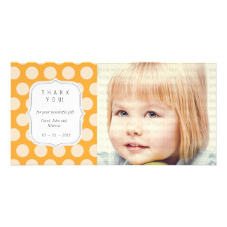 Orange Dots - Any Occasion Thank you Card