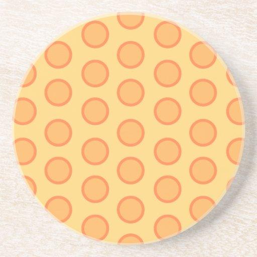 Orange dots coaster