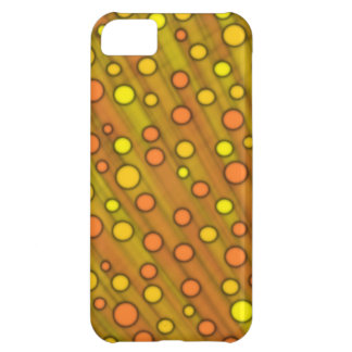Orange dots cover for iPhone 5C