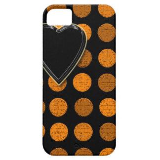 """Orange Dots & Heart""device/skins/cases"".* iPhone SE/5/5s Case"
