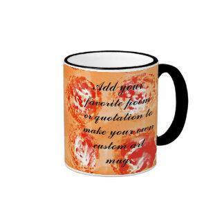 Orange Dots Watercolor Painting Coffee Mugs