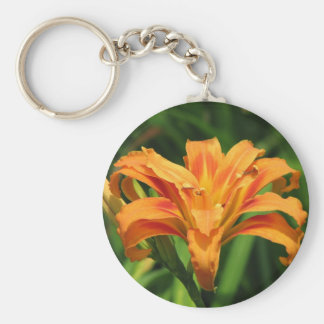 Orange Double Day Lily Keychain