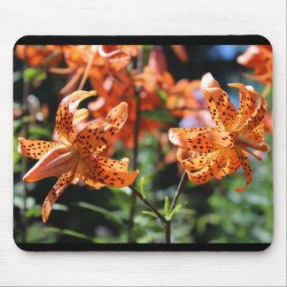 Orange Double Petal Tiger Lily Mouse Pad