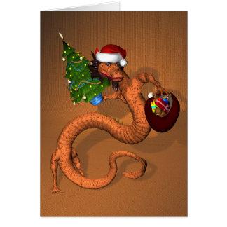 Orange Dragon Card