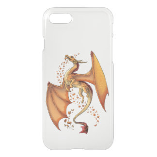 Orange Dragon of Autumn Fantasy Art iPhone 7 Case