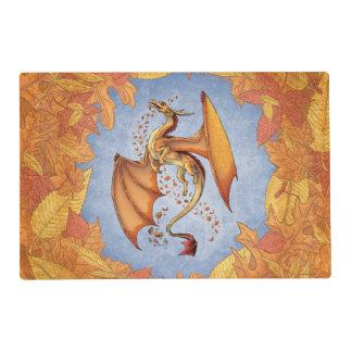 Orange Dragon of Autumn Fantasy Art Laminated Place Mat