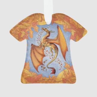 Orange Dragon of Autumn Fantasy Art Ornament