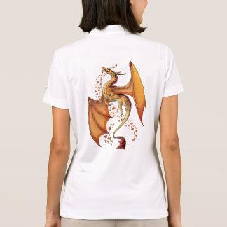 Orange Dragon of Autumn Fantasy Art Polo Shirt