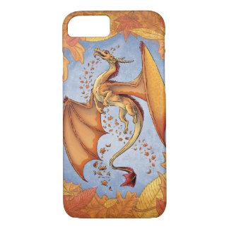 Orange Dragon of Autumn Nature Fantasy Art iPhone 7 Case