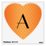 Orange dragon scales monogram room sticker