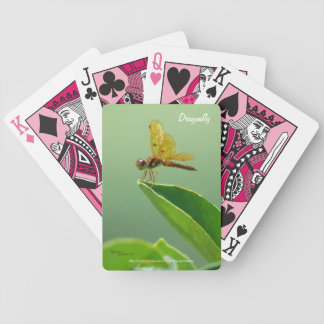 Orange dragonfly Bicycle® Playing Cards