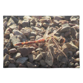 Orange Dragonfly Cloth Placemat