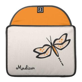 Orange Dragonfly Sleeve For MacBooks