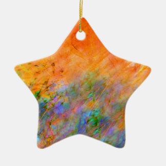 Orange Dreamscape Ceramic Ornament
