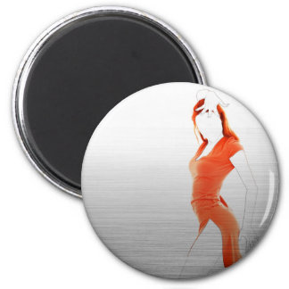Orange Dress Magnet