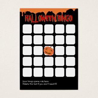 Orange Drips Pumpkin 5x5 Halloween Bingo Card