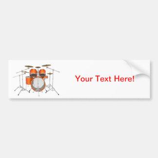 Orange Drum Kit: Bumper Sticker