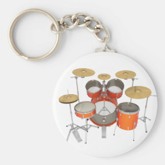 Orange Drum Kit: Key Chain