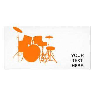 Orange drums card