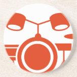 Orange Drums Musical Instrument Icon Beverage Coaster