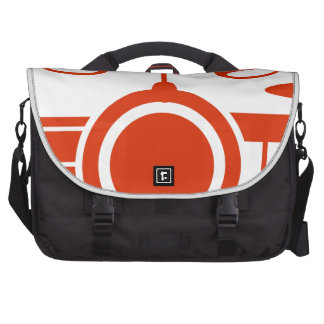 Orange Drums Musical Instrument Icon Bags For Laptop