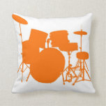 Orange drums pillows