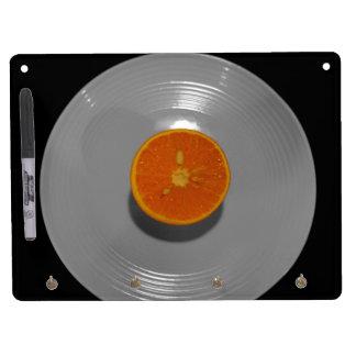 Orange Dry Erase Board With Keychain Holder