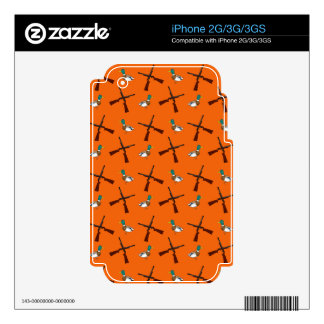 Orange duck hunting pattern skin for the iPhone 2G