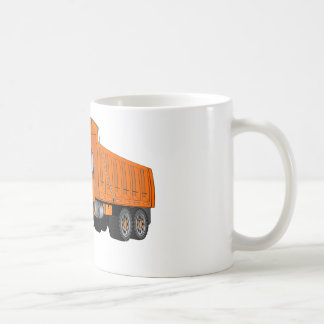 Orange Dump Truck Cartoon Coffee Mug