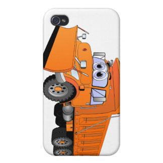 Orange Dump Truck Cartoon iPhone 4 Cover