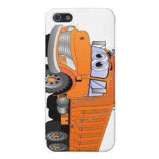 Orange Dump Truck Cartoon Covers For iPhone 5