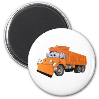 Orange Dump Truck Cartoon Magnet