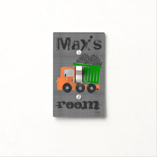 Orange Dump Truck (customize) Light Switch Covers