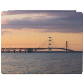 Orange Dusk Mackinac Bridge iPad Smart Cover