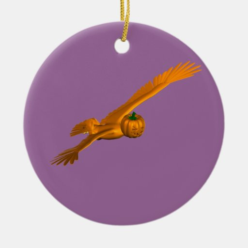 Orange Eagle Ceramic Ornament