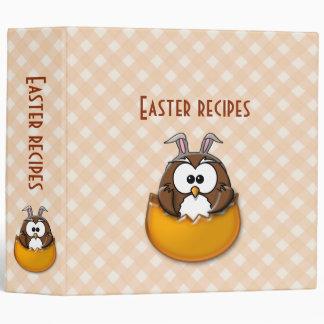 orange Easter owl - binder