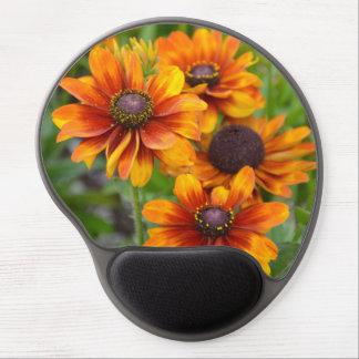 Orange echinacea flowers gel mouse pad