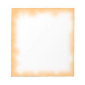 orange edge note pad