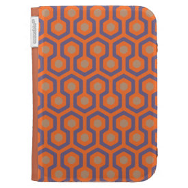Orange/Electric Blue/Cappuccino Beehive Pattern Case For Kindle