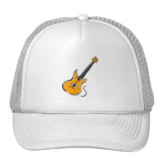 orange electric guitar music graphic.png trucker hat