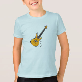 orange electric guitar music graphic.png T-Shirt
